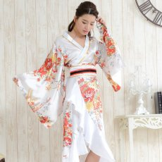 画像5: 帯付き花魁着物ロングドレス (5)