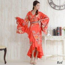 画像6: 帯付き花魁着物ロングドレス (6)