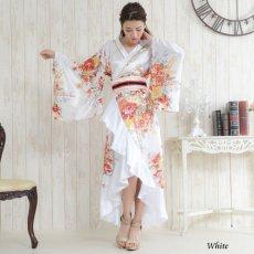 画像4: 帯付き花魁着物ロングドレス (4)
