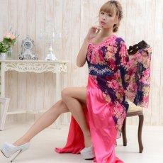 画像7: 【SALE40%OFF】豪華ビジューロング着物ドレス よさこい 花魁 コスプレ キャバドレス (7)
