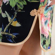画像10: 【SALE15%OFF】フラワーパワーネットミニチャイナドレス 衣装 コスプレ キャバドレス ハロウィン (10)