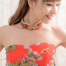 画像9: 【SALE15%OFF】フラワーパワーネットミニチャイナドレス キャバドレス パーティードレス 衣装 コスプレ (9)
