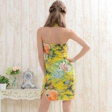 画像6: 【SALE15%OFF】フラワーパワーネットミニチャイナドレス 衣装 コスプレ キャバドレス ハロウィン (6)