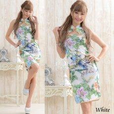 画像3: 【SALE15%OFF】フラワーパワーネットミニチャイナドレス 衣装 コスプレ キャバドレス ハロウィン (3)