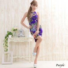 画像6: 【SALE15%OFF】フラワーパワーネットミニチャイナドレス 衣装 コスプレ コスチューム キャバドレス ハロウィン (6)