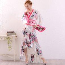 画像6: 【新色追加】孔雀和柄花魁着物ドレス 花魁 ロング キャバドレス コスチューム (6)