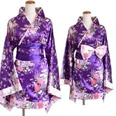 画像12: 和柄ミニ着物ドレス 和柄 衣装 ダンス よさこい 花魁 コスプレ キャバドレス (12)