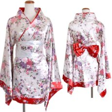 画像14: 和柄ミニ着物ドレス 和柄 衣装 ダンス よさこい 花魁 コスプレ キャバドレス (14)