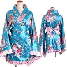 画像16: 和柄ミニ着物ドレス 和柄 衣装 ダンス よさこい 花魁 コスプレ キャバドレス (16)