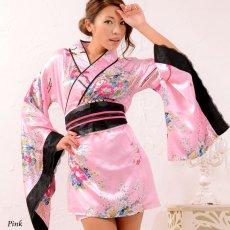 画像9: 和柄ミニ着物ドレス 和柄 衣装 ダンス よさこい 花魁 コスプレ キャバドレス (9)