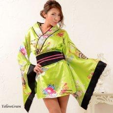 画像13: 和柄ミニ着物ドレス 和柄 衣装 ダンス よさこい 花魁 コスプレ キャバドレス (13)