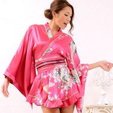 画像6: 孔雀柄ミニ着物ドレス 和柄 よさこい 花魁 コスプレ キャバドレス (6)
