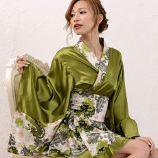 画像7: ペイズリー柄ミニ着物ドレス 和柄 衣装 ダンス よさこい 花魁 コスプレ キャバドレス (7)
