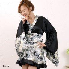 画像2: ペイズリー柄ミニ着物ドレス 和柄 衣装 ダンス よさこい 花魁 コスプレ キャバドレス (2)