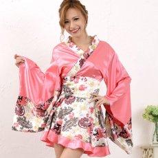 画像5: ペイズリー柄ミニ着物ドレス 和柄 衣装 ダンス よさこい 花魁 コスプレ キャバドレス (5)