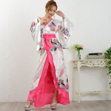 画像10: 豪華ビジュー花魁ロング着物ドレス 和柄 衣装 ダンス よさこい 花魁 コスプレ キャバドレス (10)