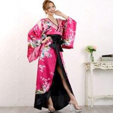 画像9: 豪華ビジュー花魁ロング着物ドレス 和柄 衣装 ダンス よさこい 花魁 コスプレ キャバドレス (9)