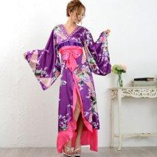 画像12: 豪華ビジュー花魁ロング着物ドレス 和柄 衣装 ダンス よさこい 花魁 コスプレ キャバドレス (12)