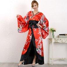 画像11: 豪華ビジュー花魁ロング着物ドレス 和柄 衣装 ダンス よさこい 花魁 コスプレ キャバドレス (11)
