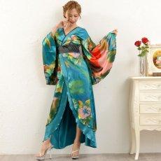 画像11: グラデーションロング着物ドレス 和柄 よさこい 花魁 コスプレ キャバドレス (11)