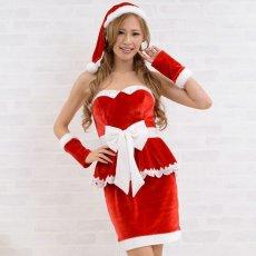 画像6: サンタ3点セットクリスマス サンタコスチューム キャバドレス (6)