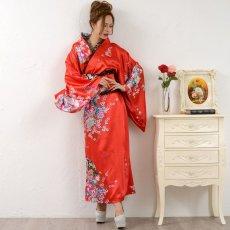 画像11: 【新色追加】レースフリルリボン付きサテン花魁着物ドレス コスチューム コスプレ キャバドレス (11)