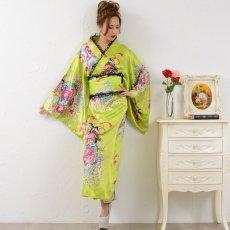 画像15: 【新色追加】レースフリルリボン付きサテン花魁着物ドレス コスチューム コスプレ キャバドレス (15)