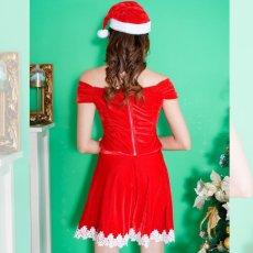 画像4: サンタ4点セットクリスマス サンタコスチューム キャバドレス (4)