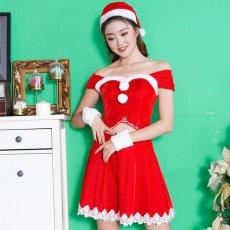 画像2: サンタ4点セットクリスマス サンタコスチューム キャバドレス (2)
