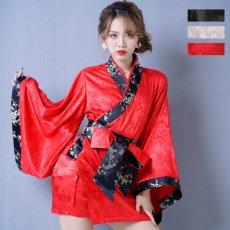 画像7: 【再入荷】和柄着物ドレス 和柄 衣装 ダンス よさこい 花魁 コスプレ キャバドレス (7)