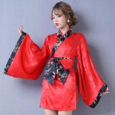 画像8: 【再入荷】和柄着物ドレス 和柄 衣装 ダンス よさこい 花魁 コスプレ キャバドレス (8)