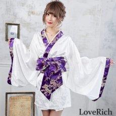 画像2: 【再入荷】和柄着物ドレス 和柄 衣装 ダンス よさこい 花魁 コスプレ キャバドレス (2)