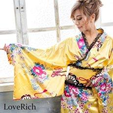 画像7: 【新色追加】レースフリルリボン付きサテン花魁着物ドレス コスチューム コスプレ キャバドレス (7)