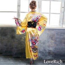 画像8: 【新色追加】レースフリルリボン付きサテン花魁着物ドレス コスチューム コスプレ キャバドレス (8)
