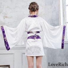 画像4: 【再入荷】和柄着物ドレス 和柄 衣装 ダンス よさこい 花魁 コスプレ キャバドレス (4)