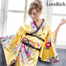 画像6: 【新色追加】レースフリルリボン付きサテン花魁着物ドレス コスチューム コスプレ キャバドレス (6)