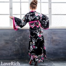 画像5: 【新色追加】孔雀和柄花魁着物ドレス 花魁 ロング キャバドレス コスチューム (5)