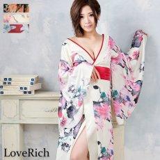 画像6: フラワーロング着物ドレス 和柄 よさこい 花魁 コスプレ キャバドレス (6)