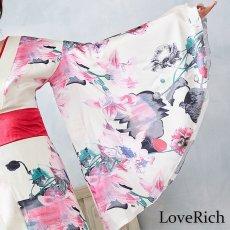 画像16: フラワーロング着物ドレス 和柄 よさこい 花魁 コスプレ キャバドレス (16)