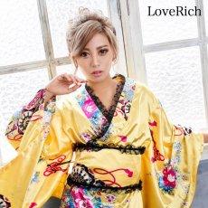 画像2: 【新色追加】レースフリルリボン付きサテン花魁着物ドレス コスチューム コスプレ キャバドレス (2)