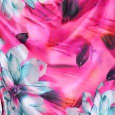 画像18: ツートンカラー花柄着物ドレス 和柄 衣装 ダンス よさこい 花魁 コスプレ キャバドレス (18)