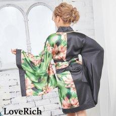 画像6: ツートンカラー花柄着物ドレス 和柄 衣装 ダンス よさこい 花魁 コスプレ キャバドレス (6)