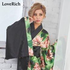 画像5: ツートンカラー花柄着物ドレス 和柄 衣装 ダンス よさこい 花魁 コスプレ キャバドレス (5)
