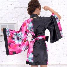 画像17: ツートンカラー花柄着物ドレス 和柄 衣装 ダンス よさこい 花魁 コスプレ キャバドレス (17)