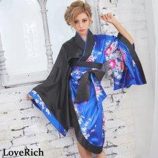 画像5: ツートンカラー孔雀柄着物ドレス 和柄 衣装 ダンス よさこい 花魁 コスプレ キャバドレス (5)