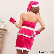 画像8: サンタ3点セットクリスマス サンタコスチューム キャバドレス (8)
