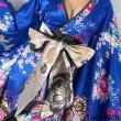 画像11: サテン和柄フリルロング着物ドレス 衣装 ダンス よさこい 花魁 コスプレ キャバドレス (11)