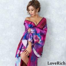 画像3: グラデーションロング着物ドレス 和柄 よさこい 花魁 コスプレ キャバドレス (3)