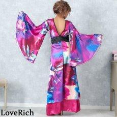 画像15: グラデーションロング着物ドレス 和柄 よさこい 花魁 コスプレ キャバドレス (15)