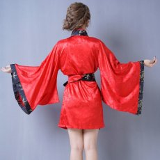 画像10: 【再入荷】和柄着物ドレス 和柄 衣装 ダンス よさこい 花魁 コスプレ キャバドレス (10)